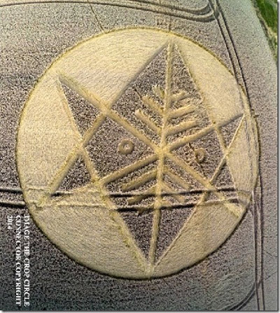Crop Circle at Ironwell Lane, nr Stroud Green, Essex, United Kingdom. Reported 24th August  2014 Dorset1