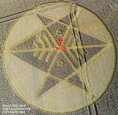Crop Circle at Ironwell Lane, nr Stroud Green, Essex, United Kingdom. Reported 24th August  2014 Unicursal