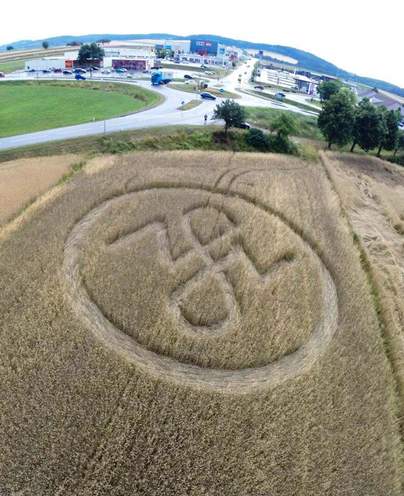 Crop Circle at Hofer Roundabout, nr Zwettl, Lower Austria ...