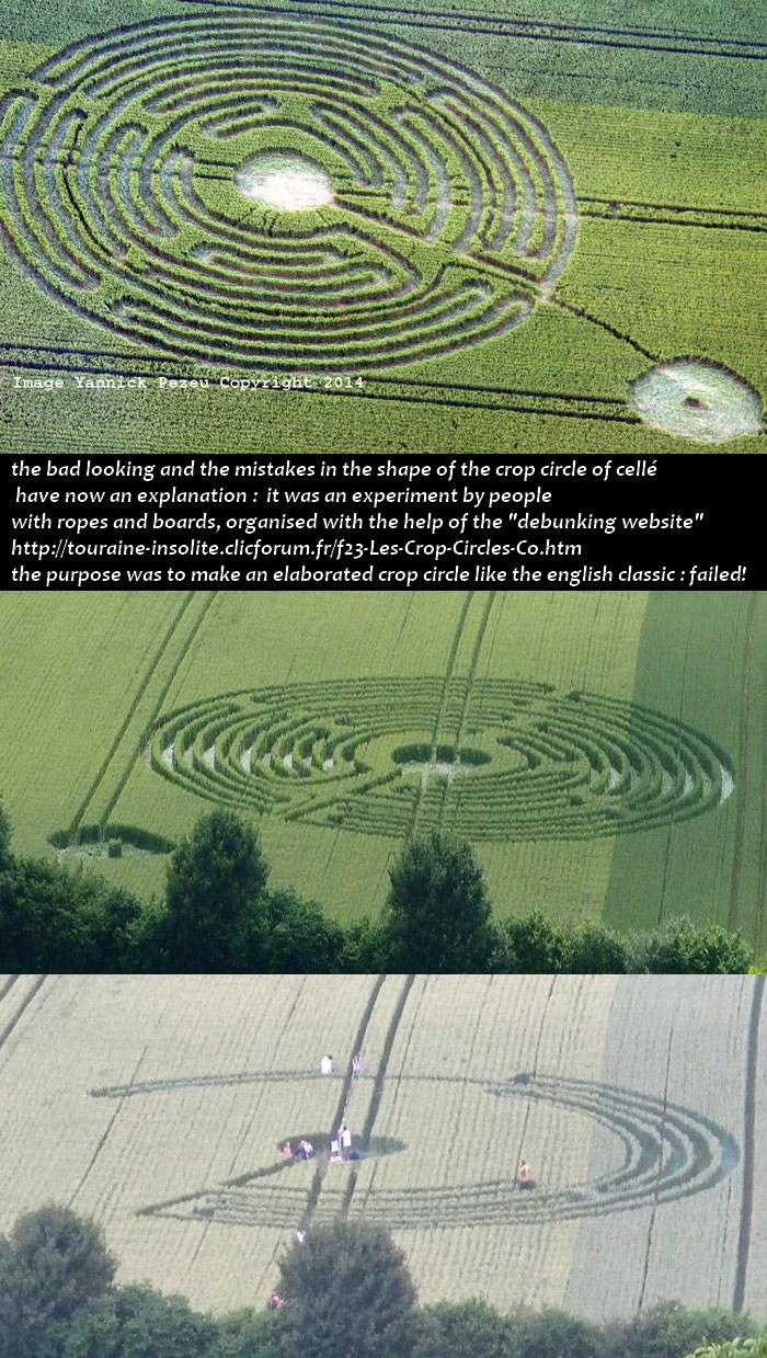 Crop Circle at Savigny-sur-Braye, Loir-et-Cher, France. Reported ...