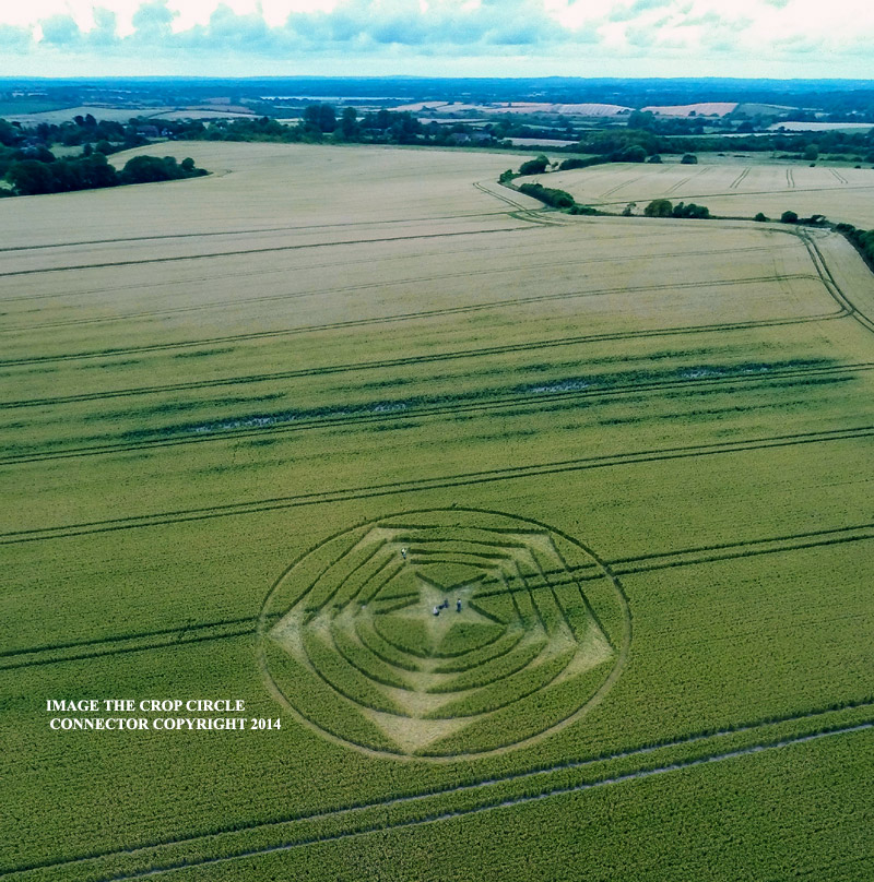 Crop Circle at The Long Man of Wilmington, East Sussex, United ...