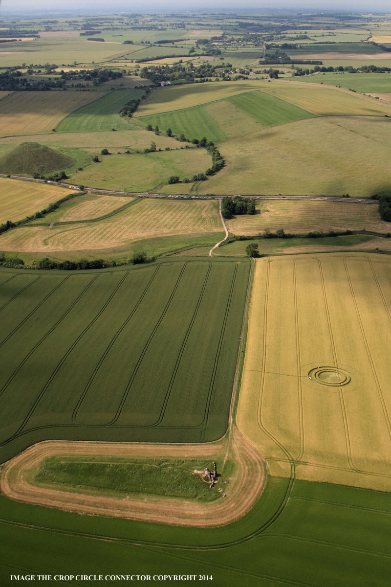 Crop Circle at West Kennett Longbarrow, Nr Avebury. Wiltshire ...