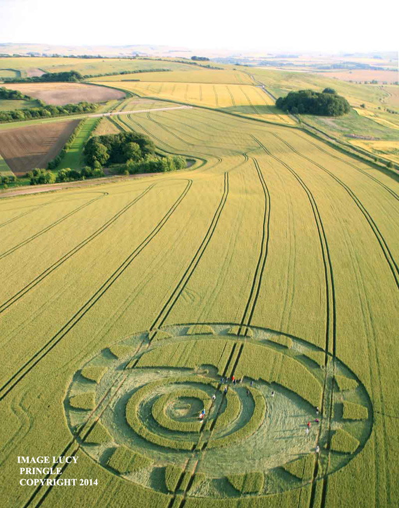 Crop Circle at Hackpen Hill, nr Winterbourne Bassett, Wiltshire ...