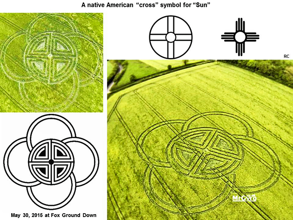 Crop Circle At Fox Ground Down Nr Blandford Forum Dorset Reported
