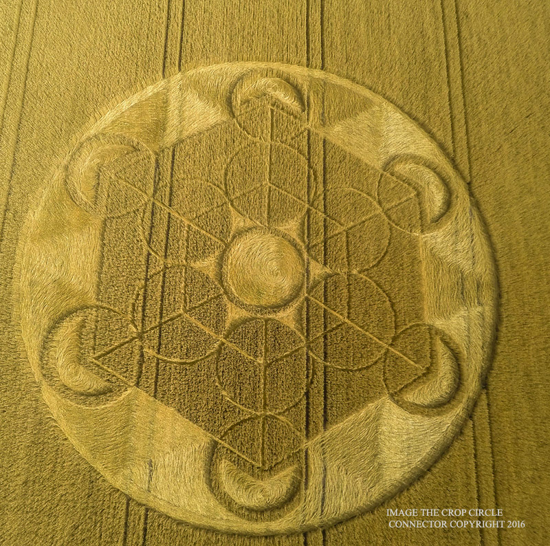 Hexagonal Crop Circle from August 17, 2016.