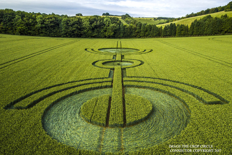 Crop Circle At Thorn Hill Nr East Kennett Wiltshire