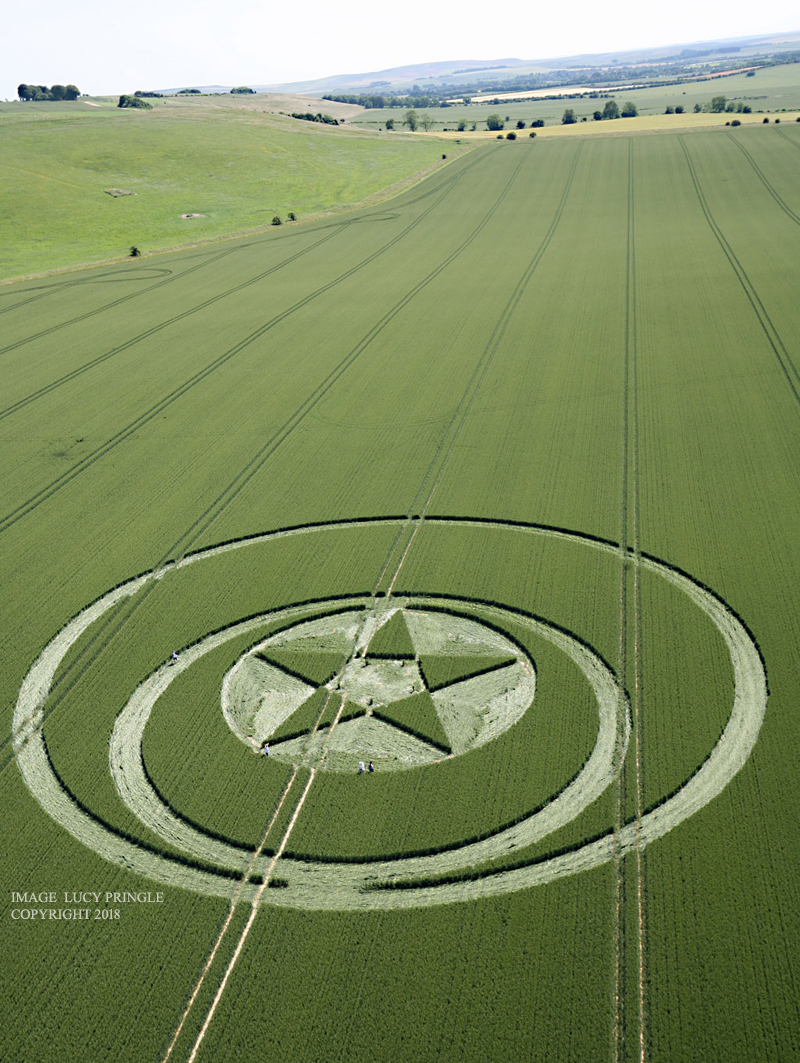 Crop Circle At Hackpen Hill  2   Nr Broad Hinton  Wiltshire  Reported 23rd June 2018