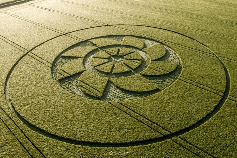 DJI 0845 Nuevo crop circle de esta temporada fue reportado en Belmore Lane, Nr. Owslebury, Hampshire.