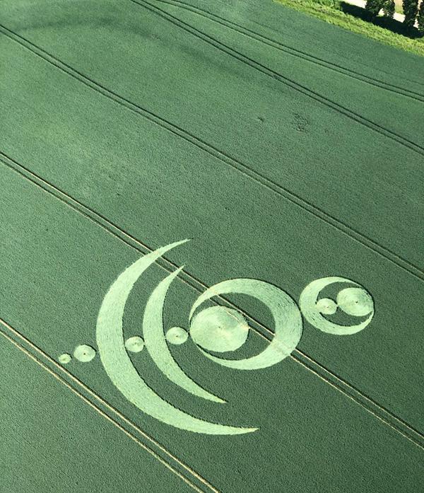 Crop Circles 2019 ~ Notre Dame of France, Nr Moisselles, France Notre1