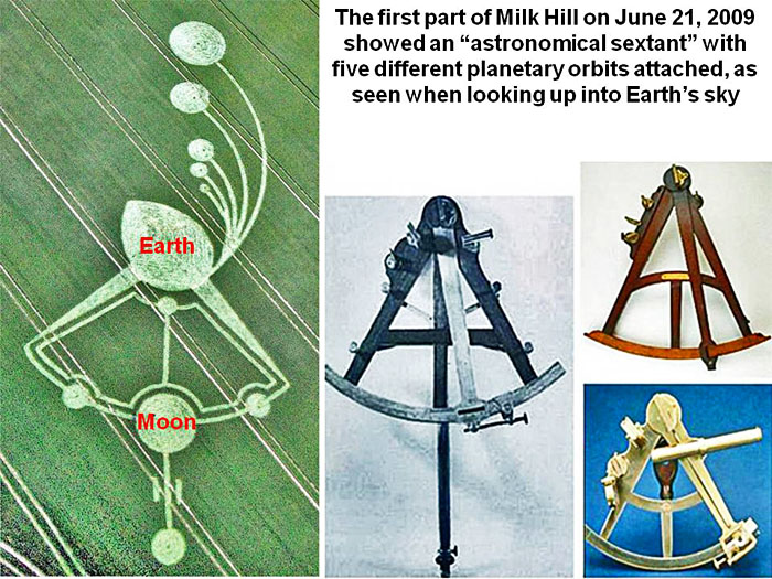Milk Hill Of June 2009 Showed Earths Sky On A Partial Solar Eclipse