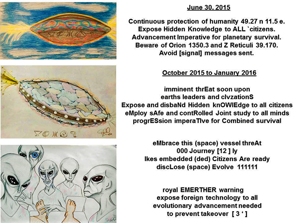 """A novel """"multiplex"""" binary code was shown to a UFO contactee """"CJ"""" in"""