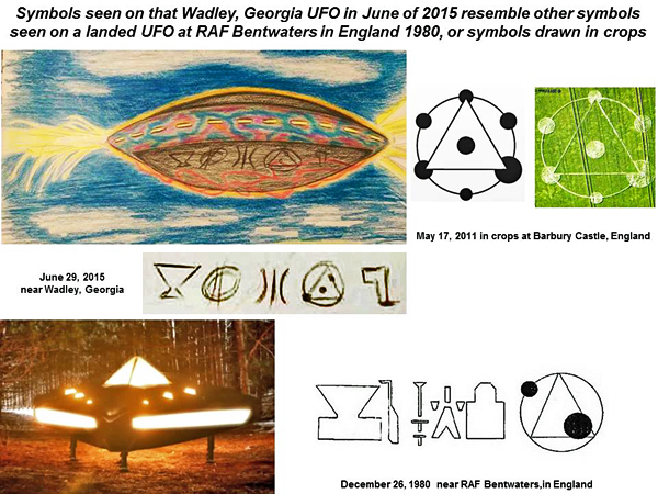 A binary code provided by a UFO flying over Georgia in the