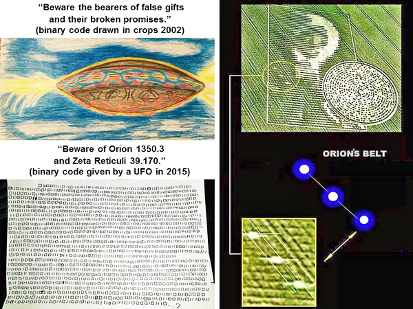 A binary code provided by a UFO flying over Georgia in the USA on