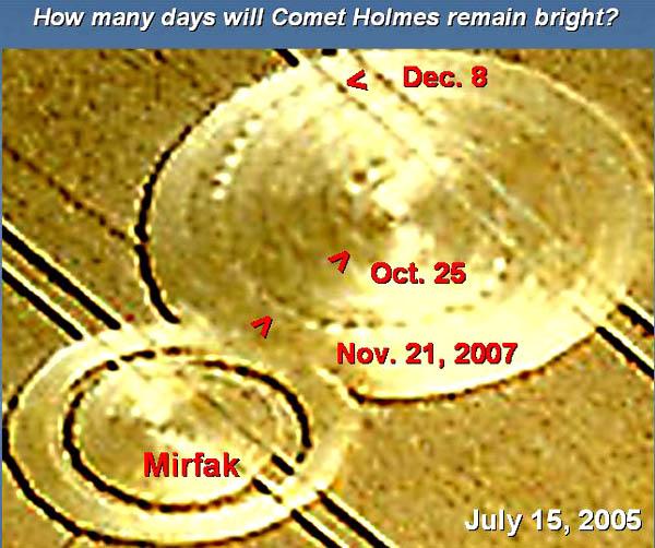 Un collegamento tra la cometa P17 Holmes e i Crop Circles? 9