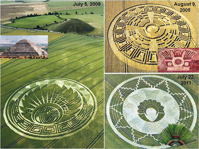 A Visual Comparison Of Three Mayan Crop Pictures With True