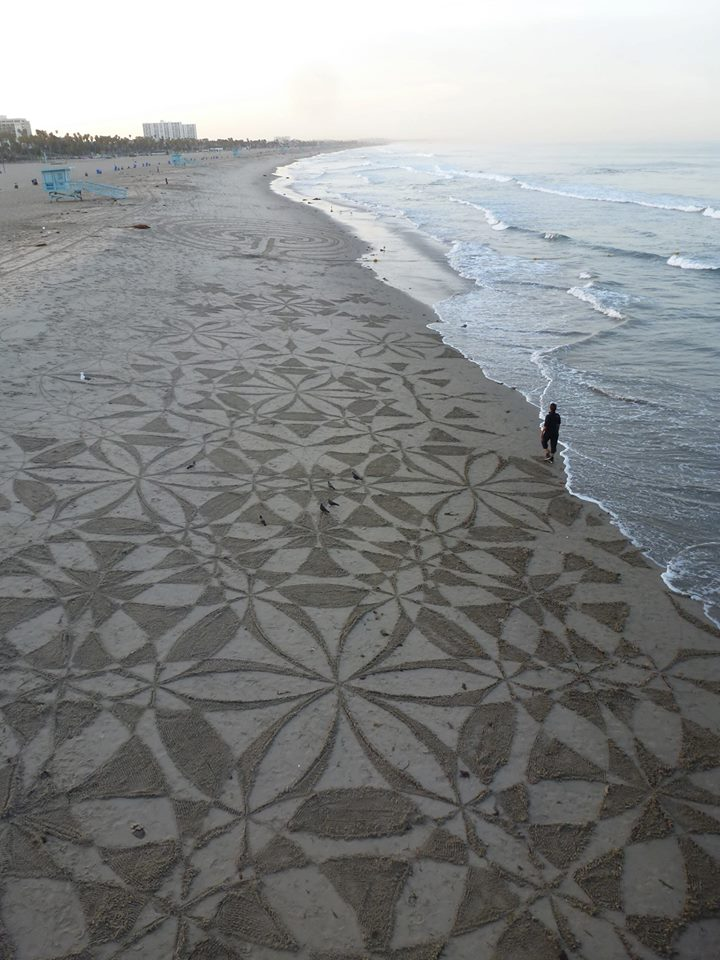 SAND CIRCLES at Santa Monica, Los Angeles, Calfornia, United States